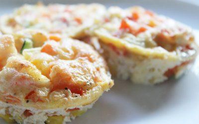 Bunte Mini-Omelettes